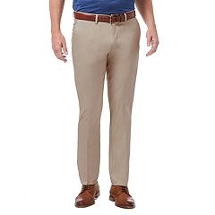Men's Haggar Premium No-Iron Khaki Stretch Slim-Fit Flat-Front Pants