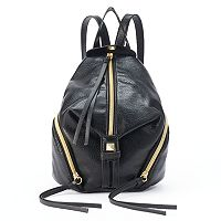T-Shirt & Jeans Diagonal Zipper Mini Backpack