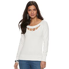 Women's Jennifer Lopez Crisscross Cutout Tee