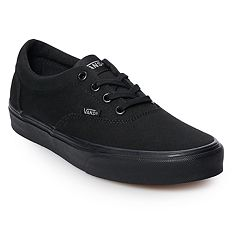 girls black vans shoes