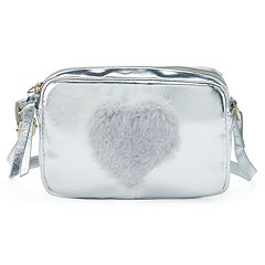 T-Shirt & Jeans Fuzzy Heart Crossbody Bag