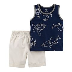 Toddler Boy Carter's Sea Life Tank Top & Shorts Set