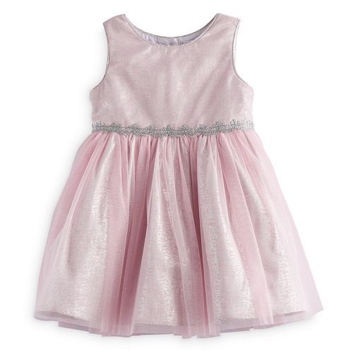 Baby Girl Youngland Pink Glitter Dress