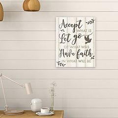 Artissimo Designs 'Accept What Is' Canvas Wall Art