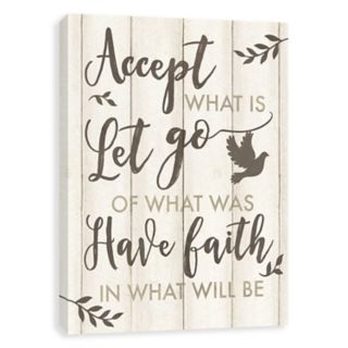 """Artissimo Designs """"Accept What Is"""" Canvas Wall Art"""