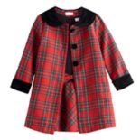 Toddler Girl Youngland 2 pc Plaid Coat Set