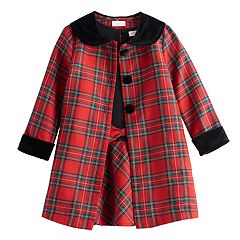 Toddler Girl Youngland 2-pc Plaid Coat Set