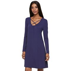 Women's Jennifer Lopez Crisscross Shift Dress