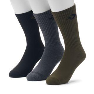 Men's Converse 3-pack Chevron Crew Socks