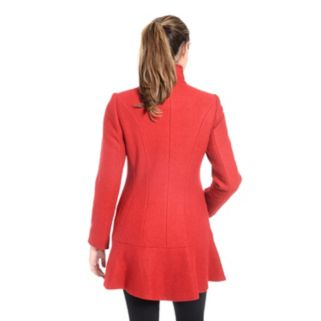 Women's Fleet Street Wool-Blend Flounce Coat