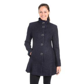Women's Fleet Street Wool-Blend Flounce Coat