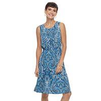 Women's Croft & Barrow® Pleated Tank Dress