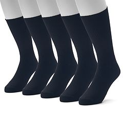 Men's Croft & Barrow® 4-pack + 1 Bonus Opticool Crew Socks
