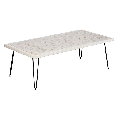 INK+IVY Woodbrick Coffee Table
