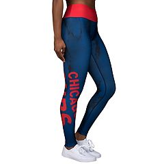 Women's Forever Collectibles Chicago Cubs Marble Wordmark Leggings