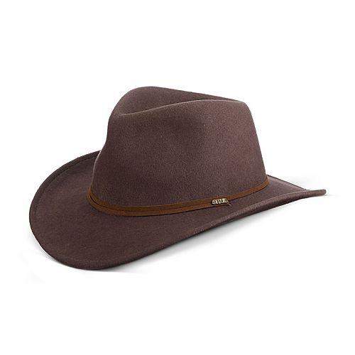 Men's Scala Wool Felt Outback Ear Flap Hat