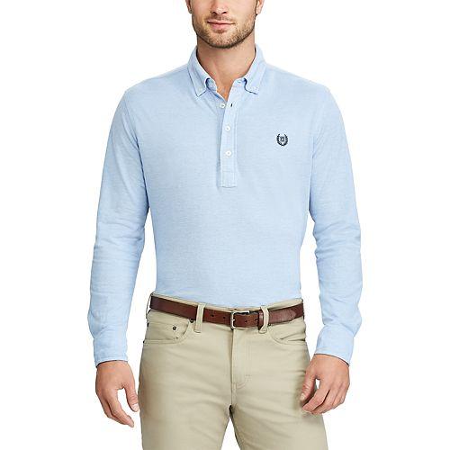 Big & Tall Chaps Regular-Fit Oxford Polo