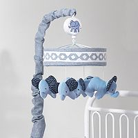 Lambs & Ivy Indigo Elephants Musical Mobile