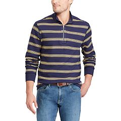 Big & Tall Chaps Classic-Fit Reversible Quarter-Zip Pullover
