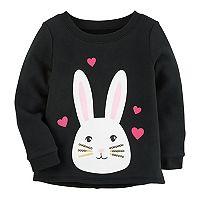 Toddler Girl Carter's Fleece-Lined Sequin Bunny Sweatshirt