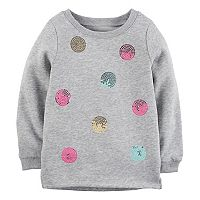 Toddler Girl Carter's Sequin Dot Sweatshirt