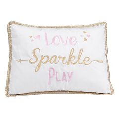Lambs & Ivy Confetti 'Love Sparkle Play' Decorative Pillow