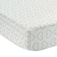 Lambs & Ivy Confetti Metallic Hearts Crib Sheet