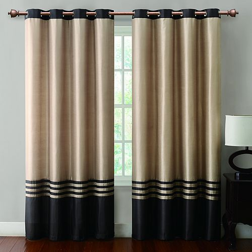 VCNY Barclay Faux Silk Window Curtain