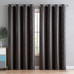 VCNY Daniel Diamond Jacquard Window Curtain
