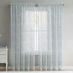 VCNY Elizabeth Embroidered Sheer Window Curtain