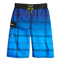 Boys 8-20 ZeroXposur Plaid Swim Trunk