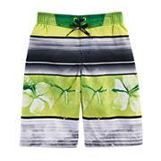 Boys 8-20 ZeroXposur Hawaiian Stripes Swim Trunks