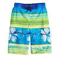 Boys 8-20 ZeroXposur Hawaiian Stripes Swim Trunks