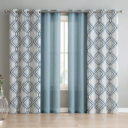 VCNY Jackston Blackout 4-piece Window Curtain Set