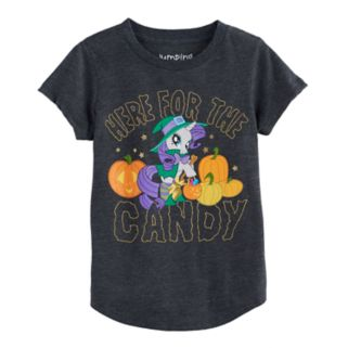 "Girls 4-10 Jumping Beans® My Little Pony Rarity Halloween ""Here For The Candy"" Tee"