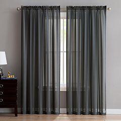 VCNY Stefan Satin Stripe Sheer Window Curtain