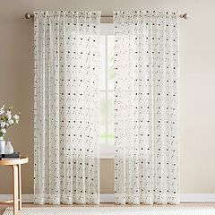 VCNY Valerina Rose Embroidered Sheer Window Curtain