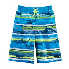 Boys 8-20 ZeroXposur Shark Stripes Swim Trunks