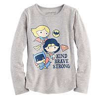 Girls 4-10 Jumping Beans® DC Comics Super Girl, Wonder Woman & Bat Girl Super Heroes Tee