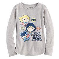 Girls 4-10 Jumping Beans® DC Comics Super Girl, Wonder Woman & Bat Girl Super Heroes Tee