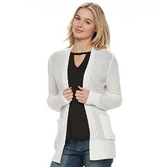 Juniors' SO® Boyfriend Cardigan