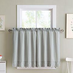 VCNY Jenna Kitchen Tier Window Curtain Set