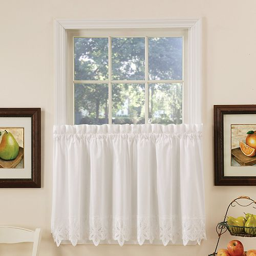 VCNY Jenna Kitchen Tier Window Curtain Set