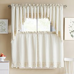 VCNY Jenna Swag Kitchen Window Valance