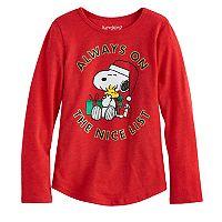 Gilrs 4-10 Jumping Beans® Snoopy Santa Tee