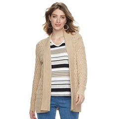 Women's Croft & Barrow® Basketweave Cardigan Sweater