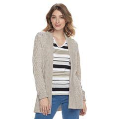 Women's Croft & Barrow® Basketweave Cardigan Sweater
