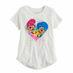 Girls 4-10 Jumping Beans® Shimmer & Shine Heart Graphic Tee