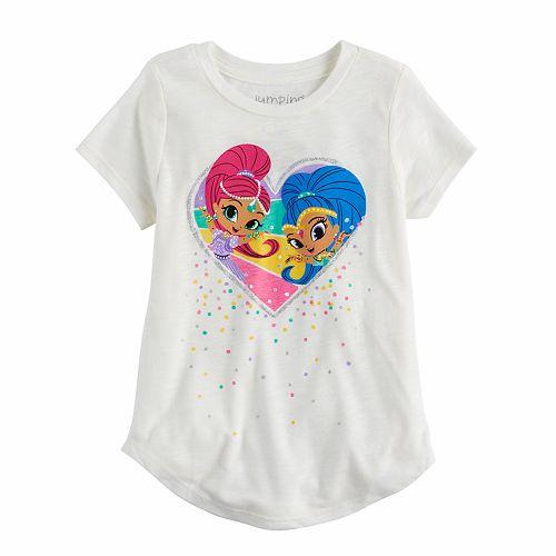 Girls 4-10 Jumping Beans® Shimmer & Shine Heart Graphic Tee