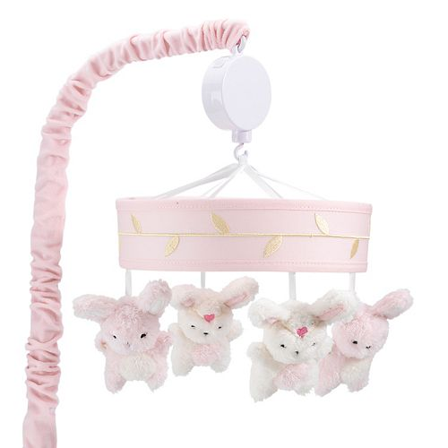 Lambs & Ivy Confetti Bunnies Musical Mobile